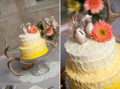 DIY Vintage Rustic Wedding: Woodland Creatures Cake Toppers!