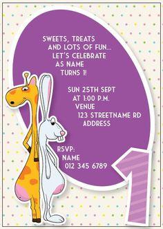 BFY_022 Invite, Invitations, Baby First Birthday, Lets Celebrate, First Birthdays, Rsvp, Monkey, Let It Be, Fun