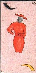 49- LA CONSULTANTE - Carte NEUTRE : Cette carte représente la consultante. Pour le consultant, il s'agit d'une femme proche de lui. Personnalité : Caractère entier, épicurien. Même quand tout va mal elle sait positiver. http://othoharmonie.unblog.fr/category/oracle-ge/