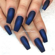 """""""Matte midnight blue #naglar #nagelkär #nagelteknolog #naglarstockholm #nagelförlängning #uvgele #gele #gelenaglar #gelnails #nails #nailart #nailswag…"""""""