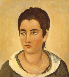 Derain, André French, 1880 - 1954 Head of a Woman 1926 oil on canvas