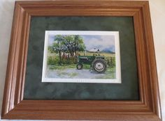 """NEW OLIVER 1555 TRACTOR PRINT BY IOWA ARTIST COLLEEN CARSON """"THE TRACTOR LADY"""""""