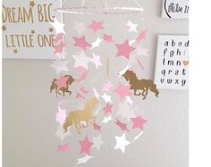 Unicorn Baby Mobile - Unicorn Baby - Unicorn Nursery Decor - Unicorn Baby Shower - Baby Shower Gift - Pink Nursery Decor - Unicorn Nursery