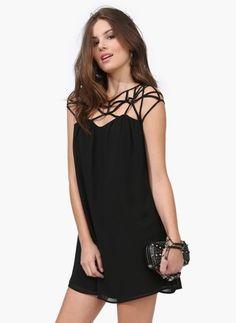 Chiffon Stripe Sleeveless Mini Sexy Dresses