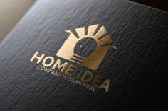 Home Idea Logo Template by Josuf Media on Creative Market Badge Template, Logo Templates, Custom Logo Design, Custom Logos, Construction Logo, Construction Business, Music Festival Logos, Real Estate Logo Design, Crest Logo
