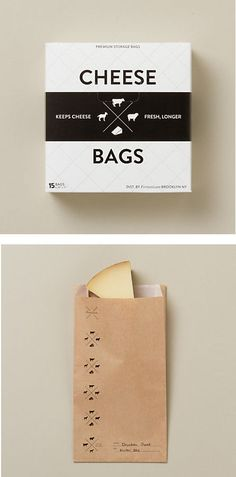 Cheese Paper Bags - we LOVE this product! Cheese is so expensive and molds so quickly- this little bag prevents mold and keeps cheese fresher longer!