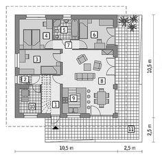 Projekt domu Murator C333p Miarodajny - wariant XV 80,2 m2 - koszt budowy 163 tys. zł - EXTRADOM