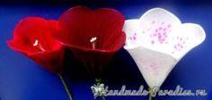 Цветы handmade. Наперстянка из капрона (2)
