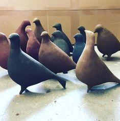 julie nelson ceramics - pigeons