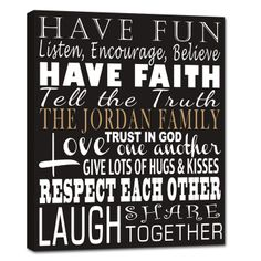 Create unique personalized & typographic word art canvas using the words that mean the most to you, family or friends. Weddings, birthdays, holidays… we have it covered.
