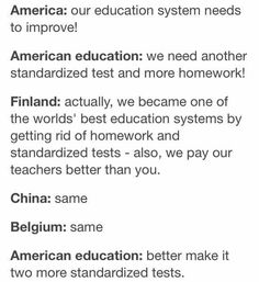 Why can't  german education be like the one in Finland?