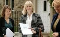 Last Tango in Halifax actress Sarah Lancashire at Holdsworth House, series 2, checking out Alan and Celia's wedding venue  7/27/2014 Season 2 pbs