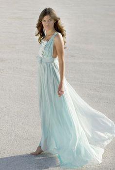 seafoam gown