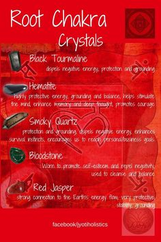A selection of crystals that I use to help balance the Root Chakra