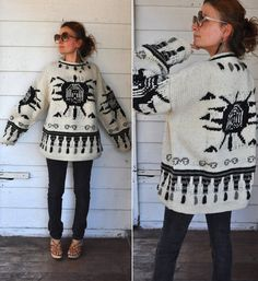 Chunky Wool Unisex Sweater // Thick // Oversized by LaDeaDeiSogni, $250.00