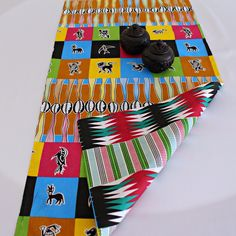 This beautifully vibrant table runners will make any space feel alive! All the colors and designs are sure to bring a little bit of Africa to any space. Excellent choice for table decor for an African theme home decor or party.With 2 differe.
