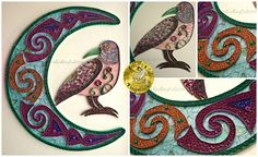 Morrigan - Original Paper quilling wall art , signed and dated. By Quilling Owl https://www.facebook.com/media/set/?set=a.852701888139764.1073741864.664237603652861&type=3