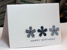 Flower Punch Card