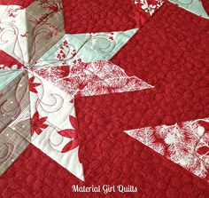 Material Girl Quilts #fmq - lovely!! Also, I'm kind of obsessed with the fabric, Winter's Lane!