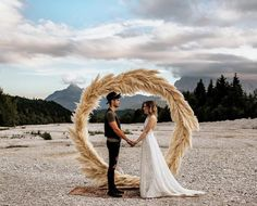 Pampas Grass is set to be one of the hottest boho wedding flower trends for 2017. From bouquets to ceremony backdrops this natural soft element is beautiful!