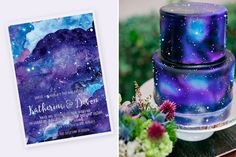 Serve a gorgeous galaxy cake. Sweet 16 Decorations, Diy Birthday Decorations, 10th Birthday Parties, Birthday Party Games, Birthday Diy, Birthday Ideas, Galaxy Cake, Diy Galaxy, Galaxy Wedding