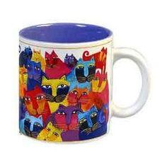 Laurel Burch cat mug