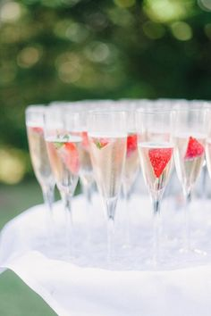 Champagne and strawberries | Brides.com