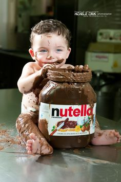 Welcome to the official USA website of Nutella®. The best Hazelnut spread in the world! Photo Bb, Cute Baby Girl Images, Hazelnut Spread, Nutella Recipes, Churro, Having A Bad Day, Cake Smash, Chuck Norris, Cute Kids