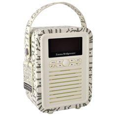 Black Toast mini retro radio - Emma Bridgewater