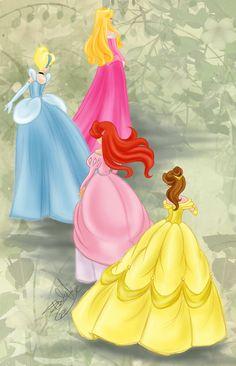Disney Princesses by *Emilia89 on deviantART http://emilia89.deviantart.com/