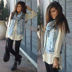Denim vest outfit / chaleco e mezclilla