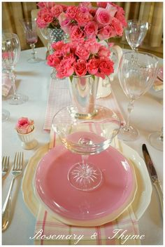 Rosemary and Thyme: Tablescapes ~ Petal Soft
