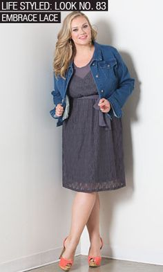 I like the dress down jacket on a lace dress. From SWAK design. ~ literally crying that this dress is sold out. :(