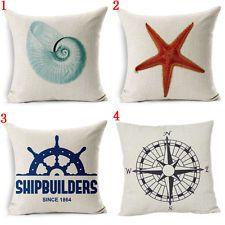 Marine Organ Style Cotton Linen Pillowcase Conch Starfish Sofa Car Cushion Cover