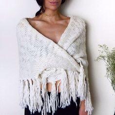 Winter boho knits and dainty gold chokers