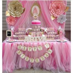 Dessert table with paper flowers