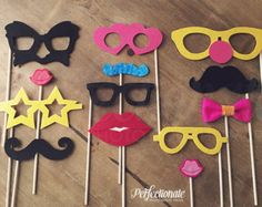 Felt Photo Booth Props and Printable Props by Perfectionate Funny Photo Booth, Wedding Photo Booth Props, Fruit Birthday, Birthday Balloon Decorations, Wedding Invitation Cards, Balloons, Etsy, Handmade Gifts, Pajama Party