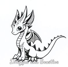 Inktober: Little Dragon by DragonsAndBeasties on DeviantArt