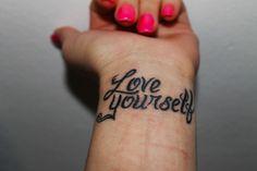 love wrist tattoos