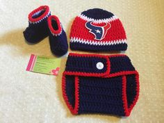 Crochet Baby Houston Texans Diaper Cover by JAMMYCRAFFTS29 on Etsy