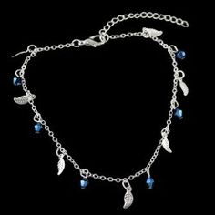 Leaves Geometric Beads Charm Anklet