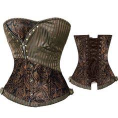 Aliexpress.com: (14,42€) Comprar Cremallera ropa gótica Sexy Brown corsé de Overbust