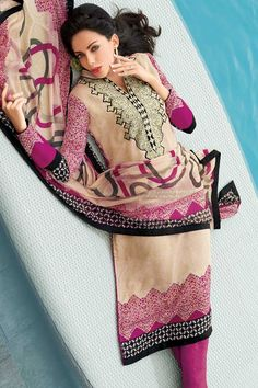 Lemon-chiffon Yellow and Red-violet Crepe Embroidered Churidar Kameez Sku Code:214-4089SL445928 $ 44.00