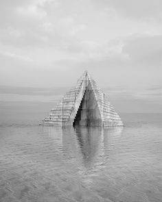 Check out Noemie Goudal, Observatoire V From Galerie Les filles du calvaire Land Art, Week End Paris, Monumental Architecture, Modern Architecture, The Doors Of Perception, Cardboard Sculpture, Concrete Structure, Photography Series, Royal College Of Art