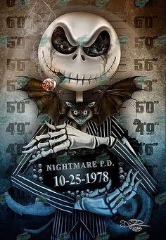 Tim Burton Kunst, Tim Burton Art, Nightmare Before Christmas Wallpaper, Nightmare Before Christmas Tattoo, Disney Kunst, Disney Art, Arte Horror, Horror Art, Jack Skellington