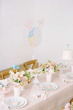 Don't miss this amazing Disney-themed birthday party! The table settings are gorgeous! See more party ideas and share yours at CatchMyparty.com #catchmyparty #partyideas #disney #disneyparty #girlbirthdayparty 100 Layer Cake, 4th Birthday Parties, Vintage Disney, Disney Inspired, Party Ideas, Princess, Friends, Fit, Wedding