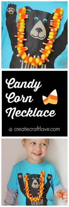 sString together some candy corn and make this fun Candy Corn Necklace with the kids this Halloween! This is such a fun and easy project! Fun Halloween Activities, Halloween School Treats, Halloween Crafts For Kids, Easy Crafts For Kids, Halloween Fun, Holiday Crafts, Fall Crafts, Holiday Ideas, Harvest Festival Crafts
