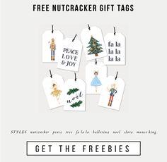 Free Nutcracker gift tags
