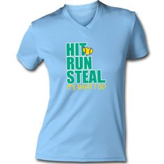 We offer a great selection of comfortable Softball Performance Tees that will inspire you to work up a sweat! It's an awesome softball gift for super active players!