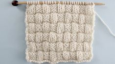 Basket Weave Knit Stitch Pattern Easy for Beginning Knitters by Studio Knit with Video Tutorial